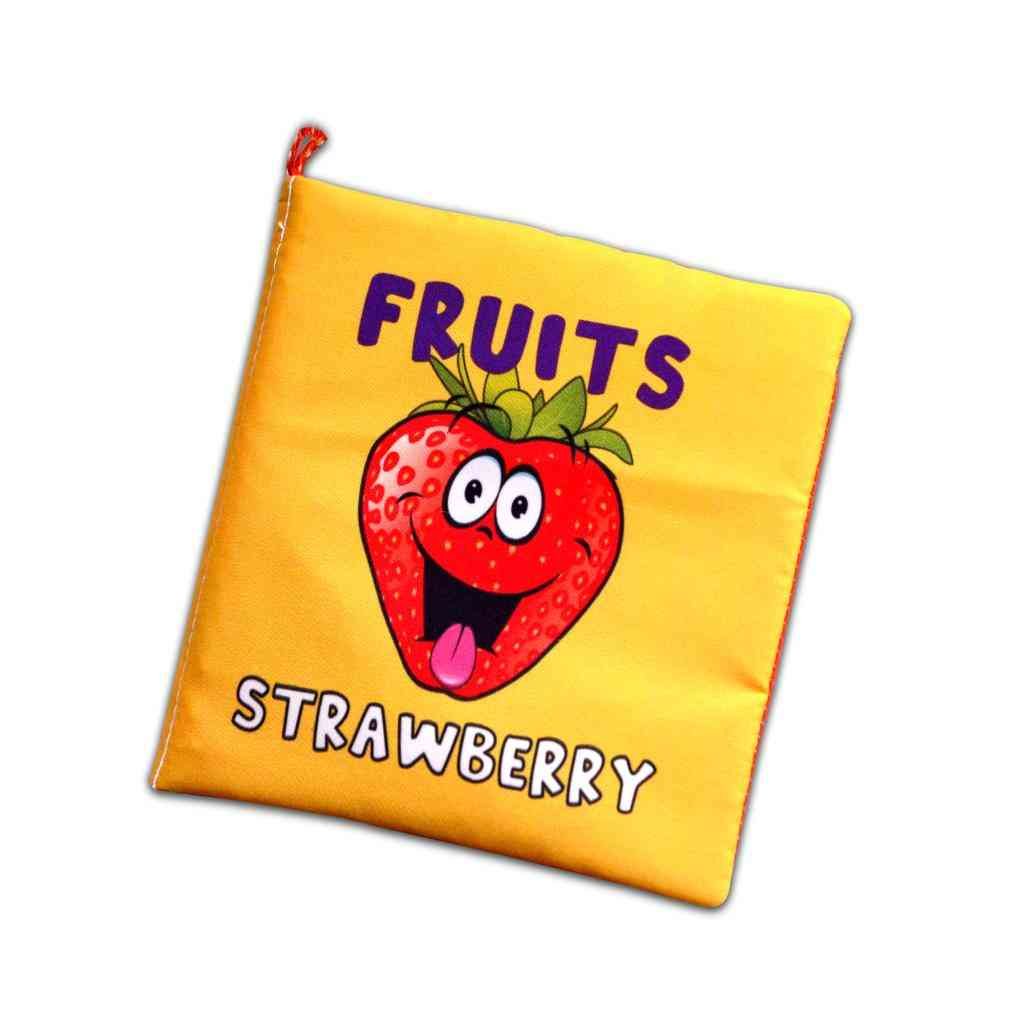 Tox English Fruits Cloth Quiet Book, , Educational Toy, Soft And Colorful
