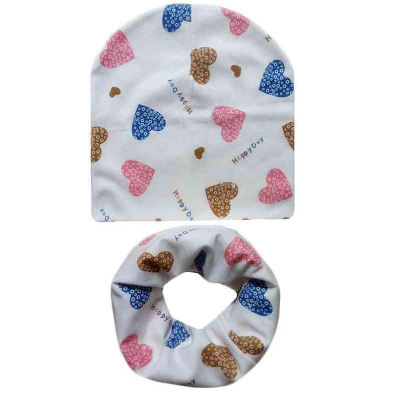 Baby Cotton Hat Scarf Set
