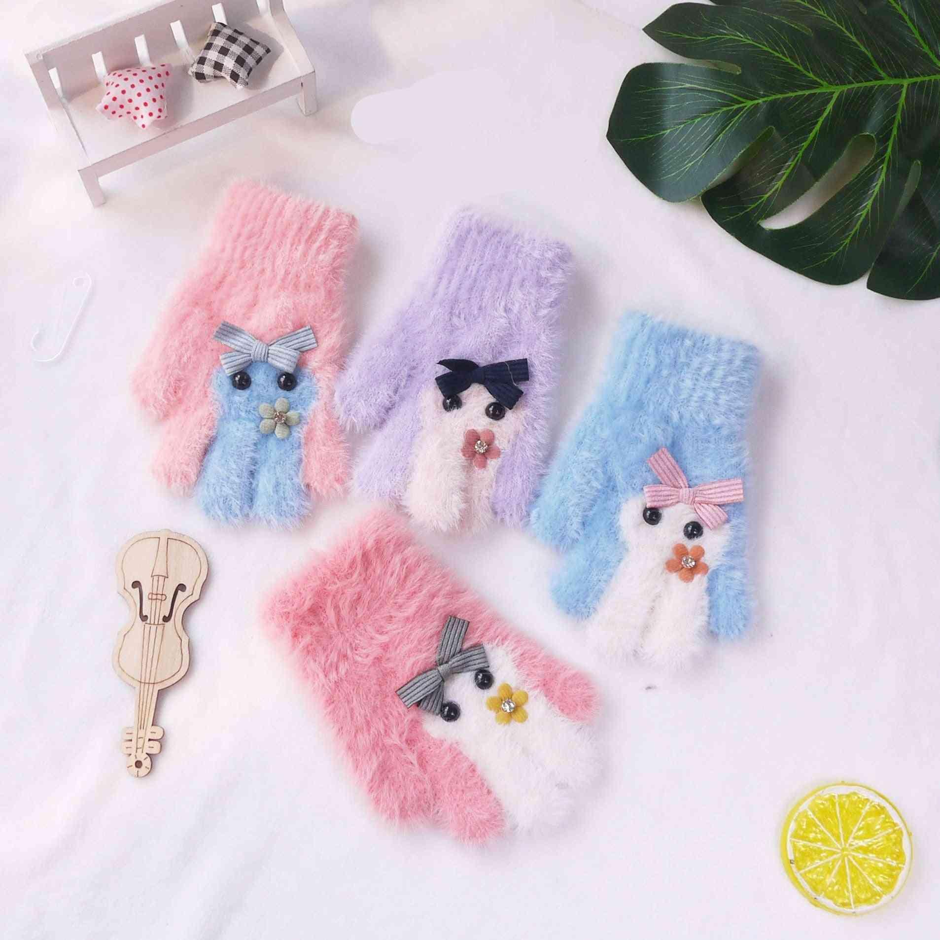 Girls Winter Full Finger Gloves