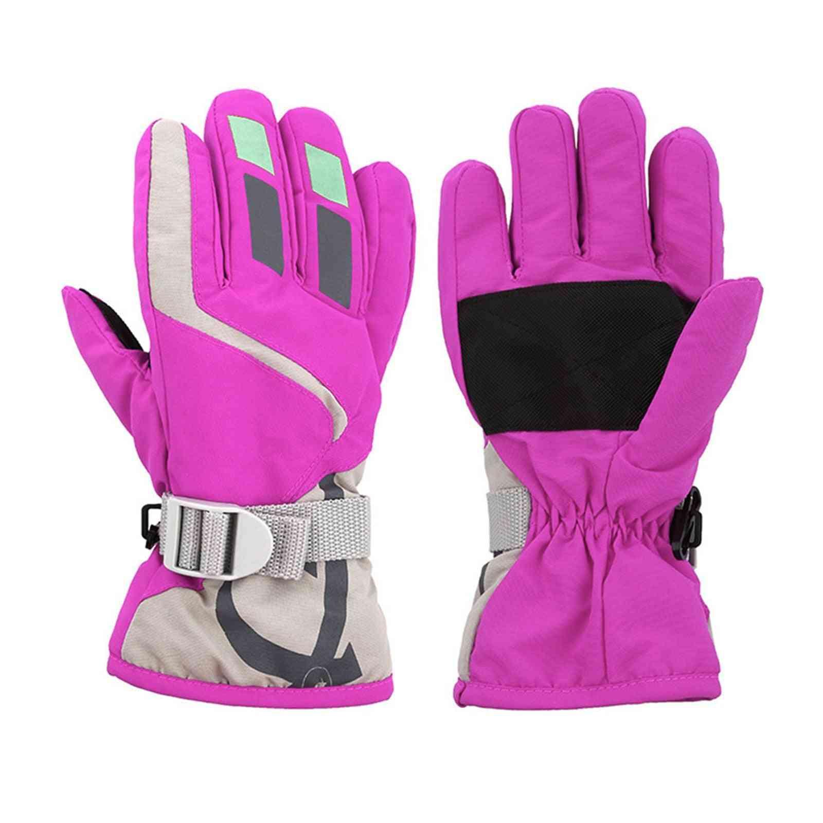 Kids Winter Warm Waterproof Windproof Thick Ski Gloves