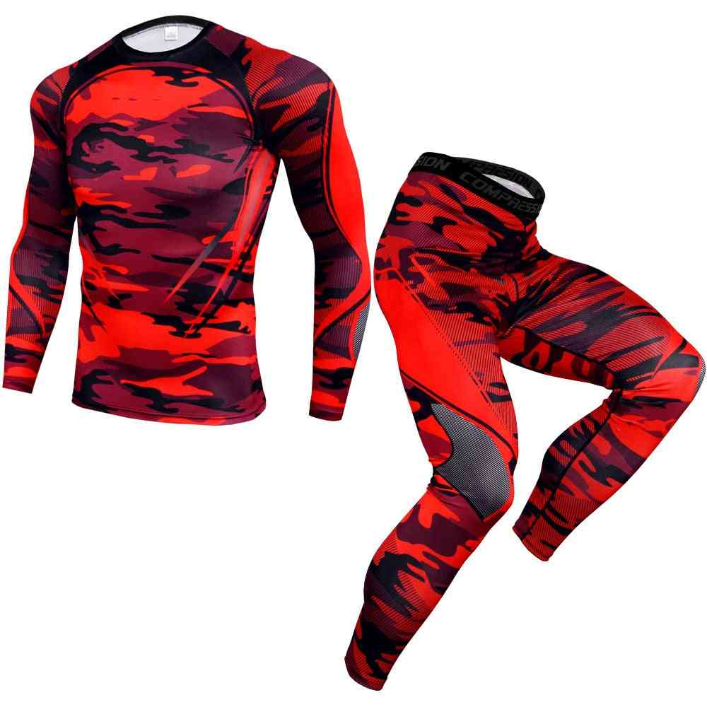 Tracksuit For Men, Running Sports Suit Compression T-shirt