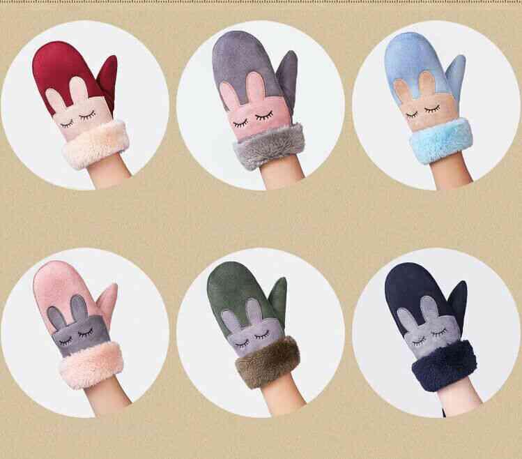 7 Colors Winter Kawaii Gloves