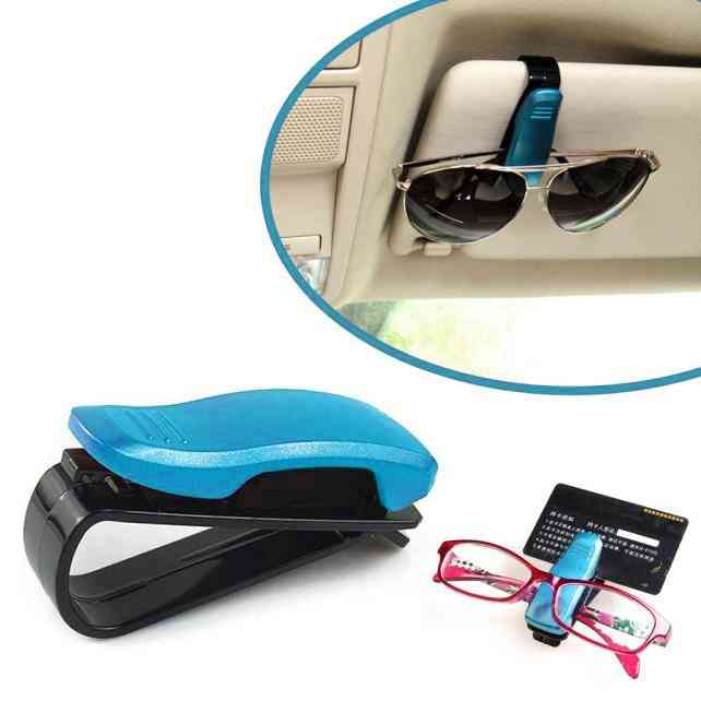 Car Auto Sun Visor Glasses Clip Card Ticket Holder Pen Case