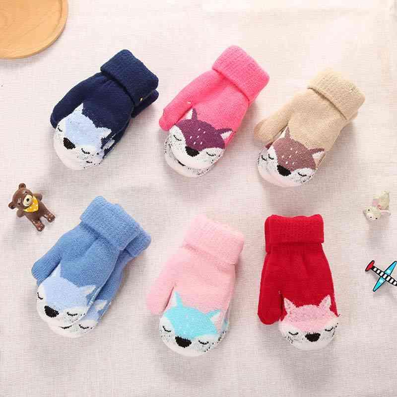 Kids Full Finger Winter Warm Gloves