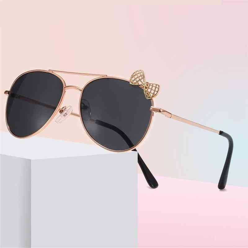 Kids Metal Frame Bow Sun Glasses