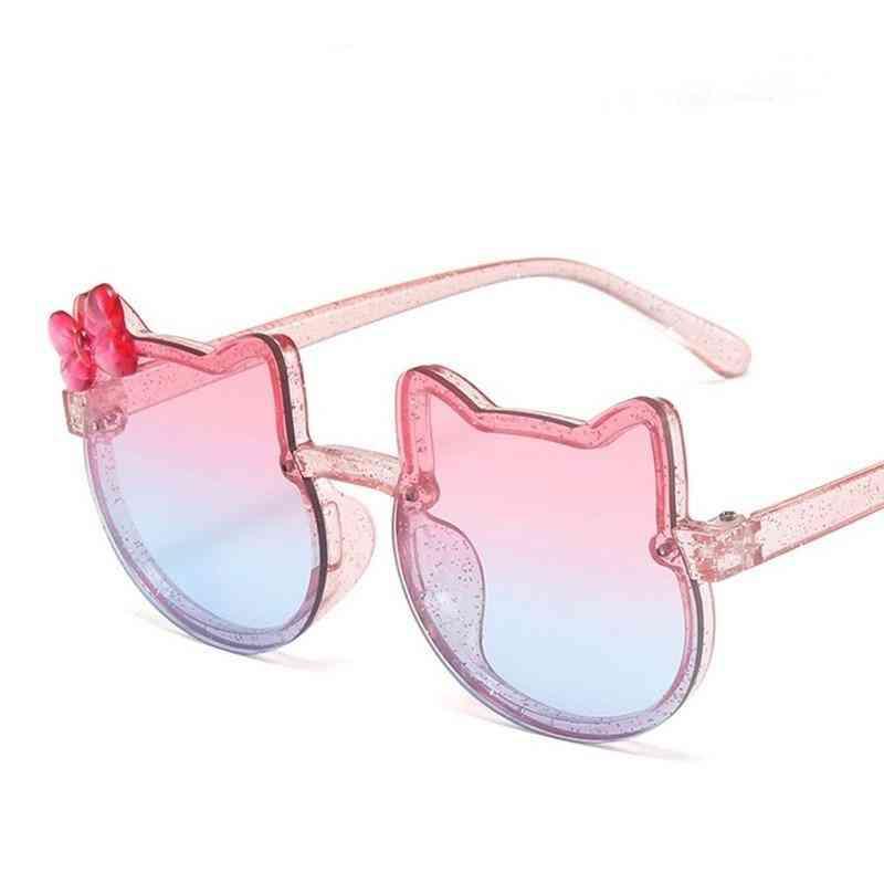 Girls Shiny Bowknot Sun Glasses