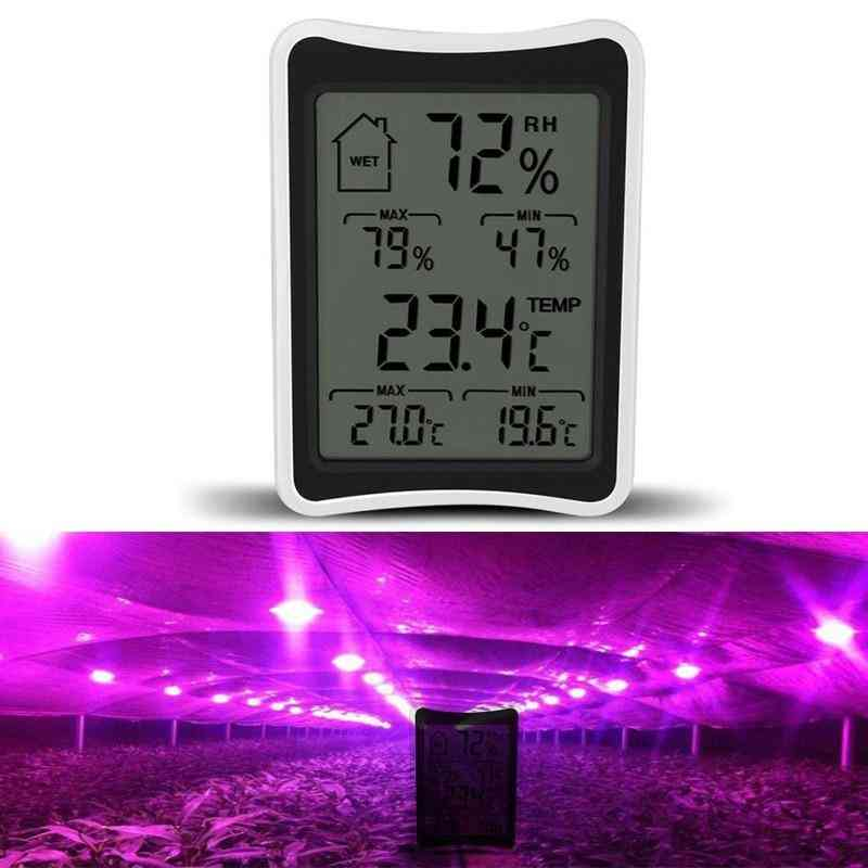 Electronic Thermometer Humidity Monitor For Plant Grow Lamp Tent