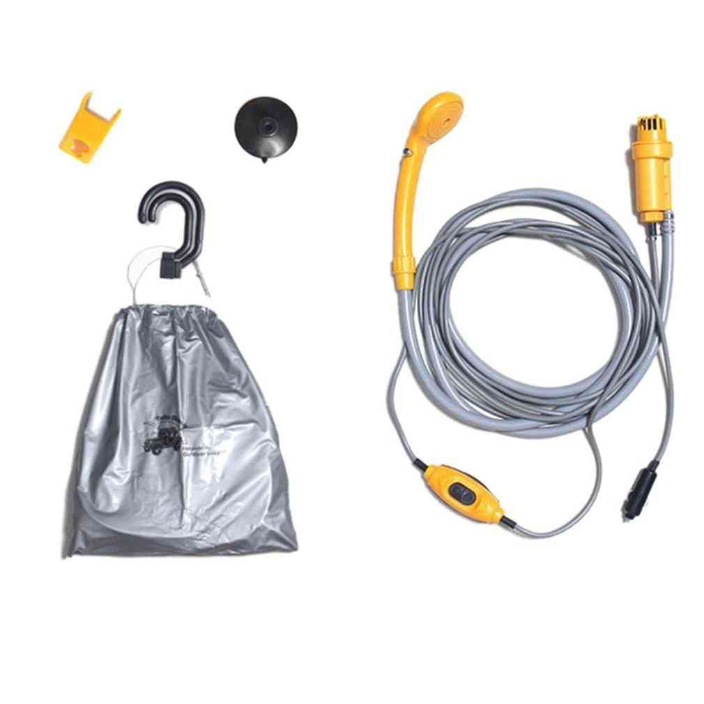Car Washer Portable Shower Set Electric Pump Outdoor Camping Travel Cleaning Tool