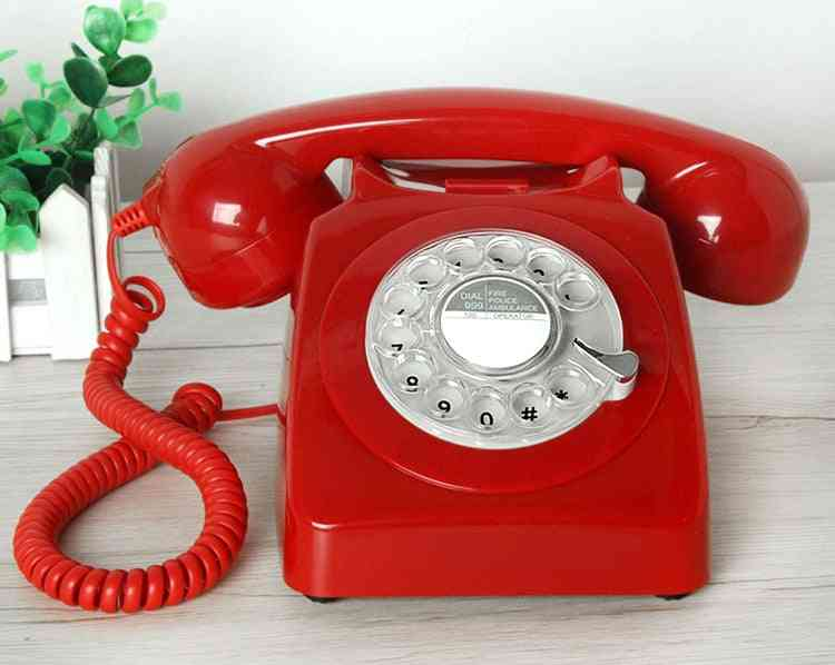 Retro Antique Telephone Corded Landline Home Phones