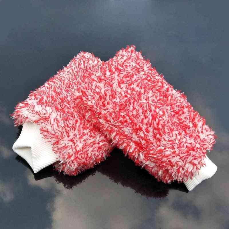 18*13cm Soft Car Cleaning Glove & Ultra Soft Car Wash Mitt