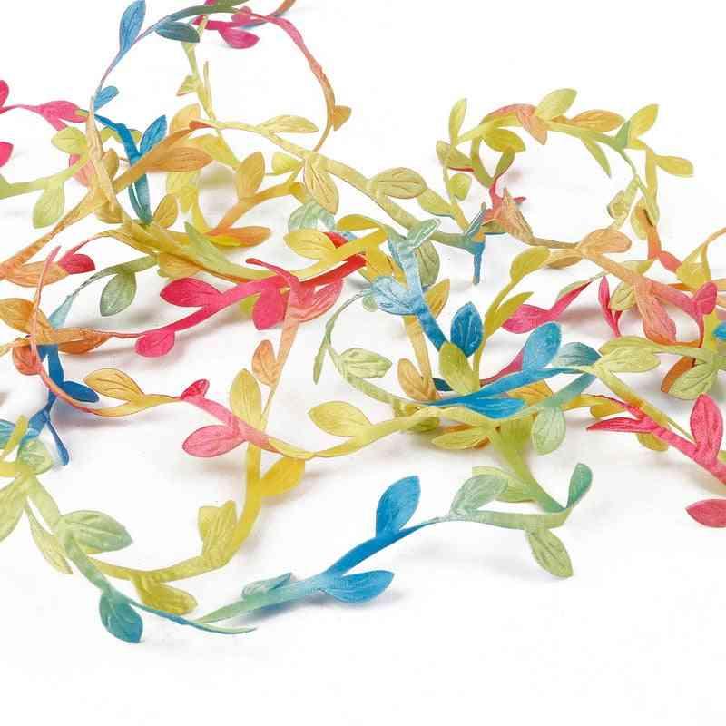Silk Leaf-shaped Artificial Flower For Home, Wedding Decoration, Diy Wreath, Scrapbooking Craft, Fake Flowers