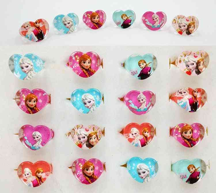 Frozen Princess Elsa, Anna, Acrylic Kids Finger Rings, Party Costume, Birthday Party, Favors