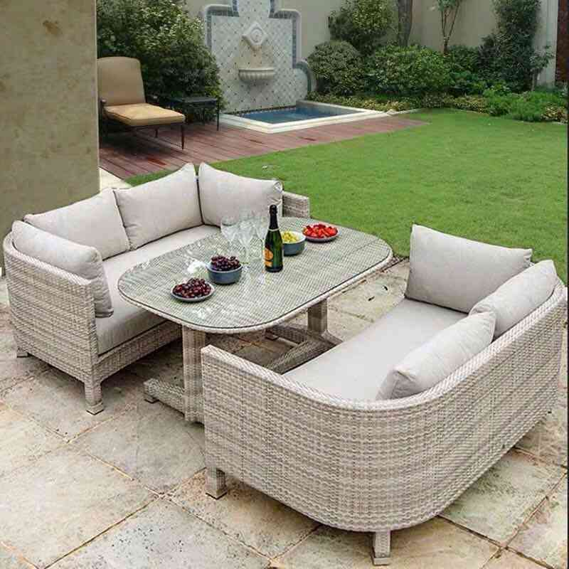 Creative Outdoor Rattan Chair Sofa Double Rattan Furniture