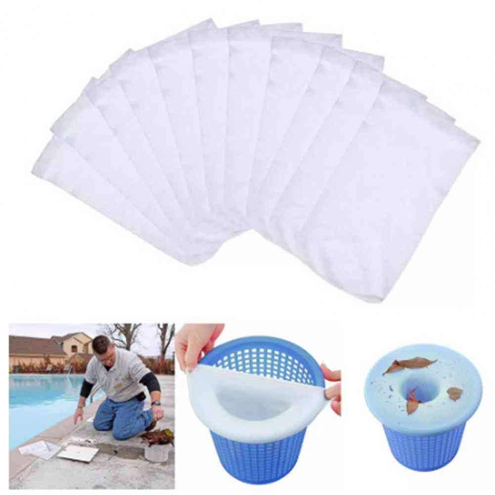 Skimmer Socks, Reusable Stretchable, Non-woven Fabric, Filters Baskets, Pool Skimmer For Leaves