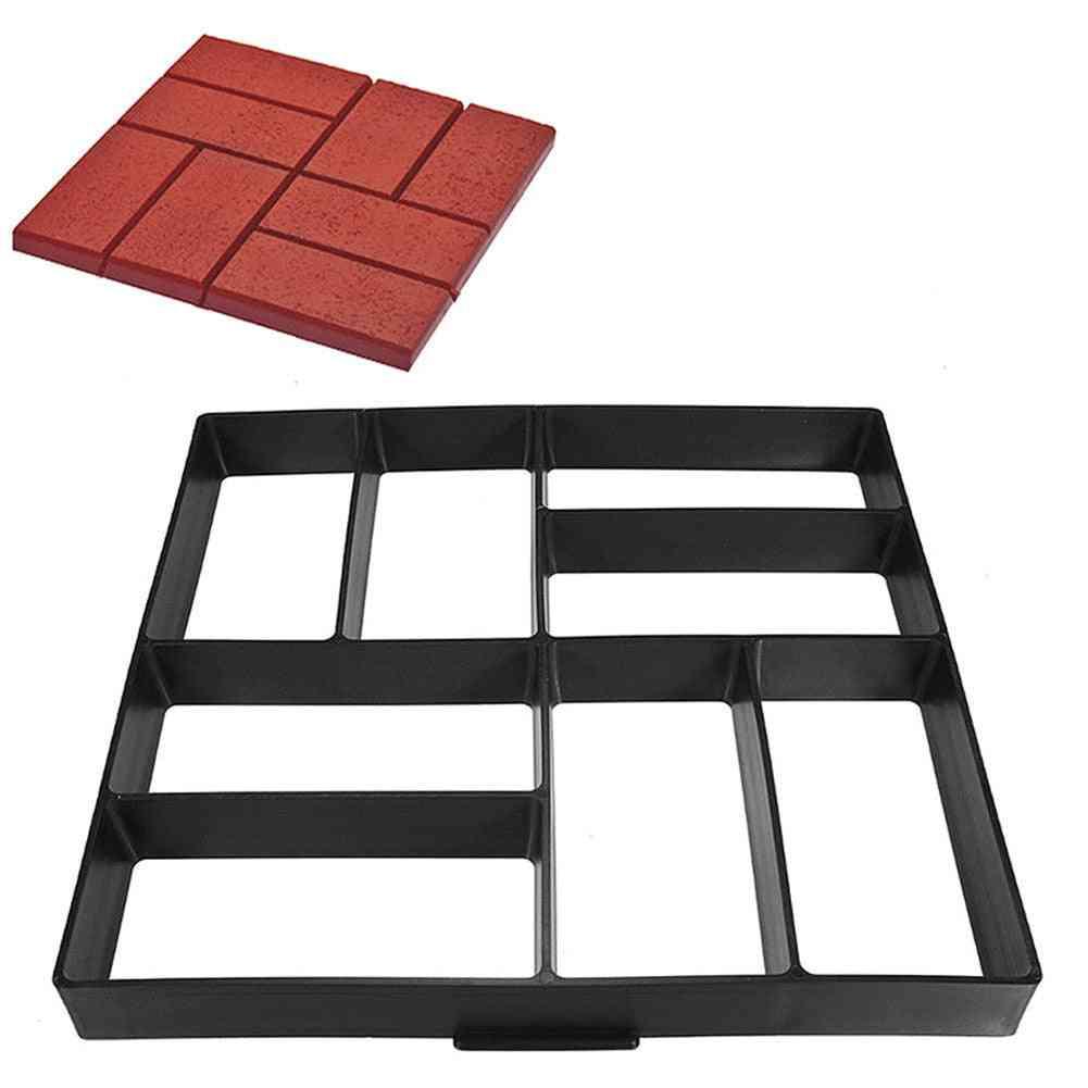 Garden Diy Plastic Path Maker, Pavement Model Concrete Stepping Stone, Cement Mould Brick