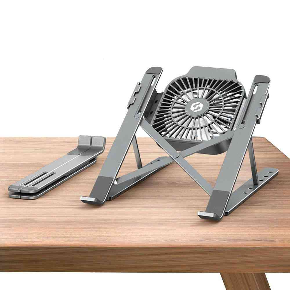 Foldable Desktop Laptop Tablet Stand With Cooling Fan
