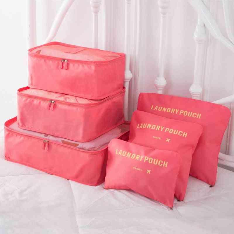 Nylon Packing Cube Travel Bag System Durable Set Large Capacity