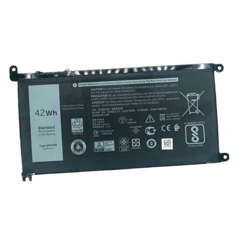 7xinbox 11.4v 42wh, Wdx0r Wdxor 3crh3 T2jx4 Laptop Battery