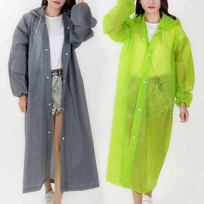 Environmental Women Raincoat, Men Black Clothes Cover, Hooded Poncho, Motorcycle Rainwear, Adult Clear Rain Jacket