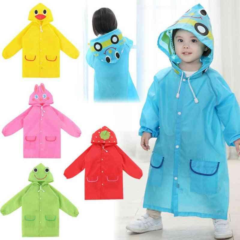 Raincoat Kids, Cartoon Animal Style, Waterproof For, Rainwear