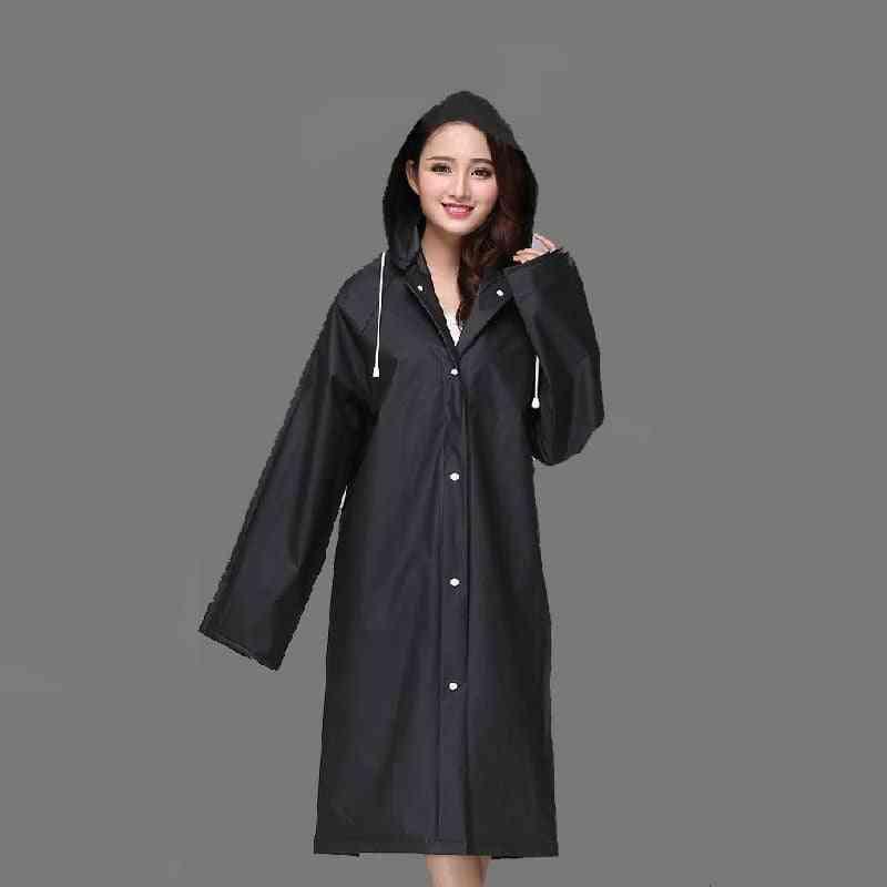 Eva Women Raincoat, Waterproof, Clear Transparent, Camping, Rainwear
