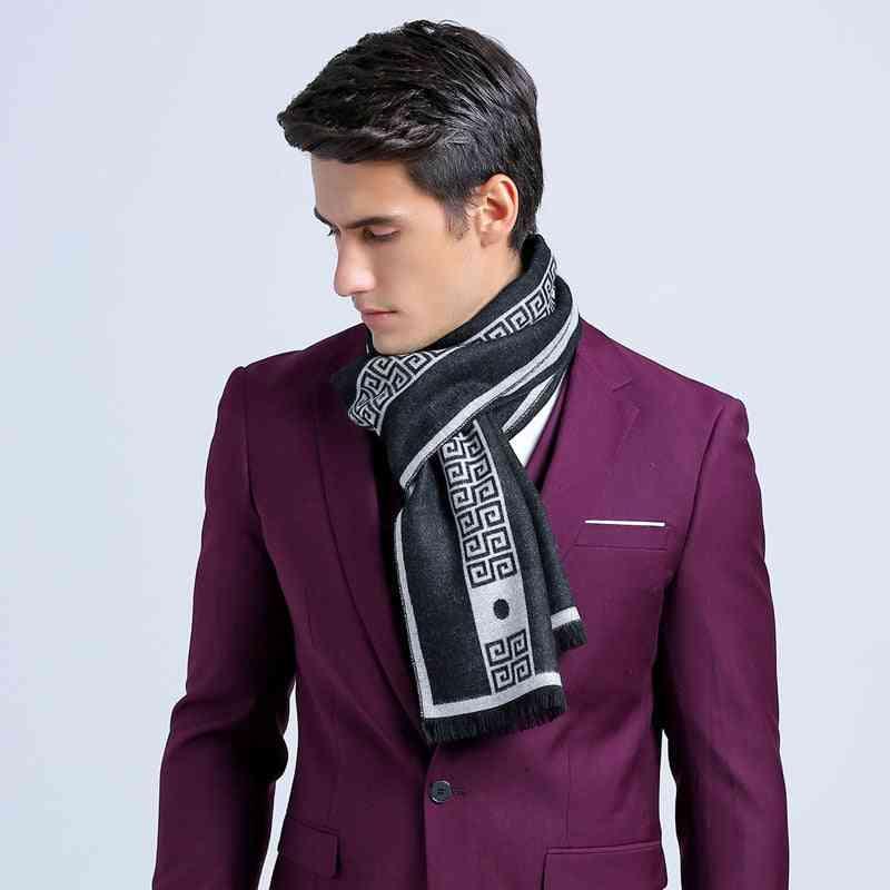 Good Quality Letter Brand Men's Scarf Shawl Winter Neck Warm Scarves