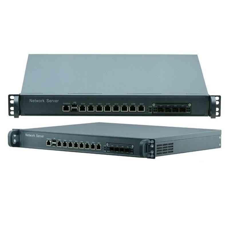8 Lan Port 1u Network Appliance Firewall With 4*sfp 1000mps Fiber Port