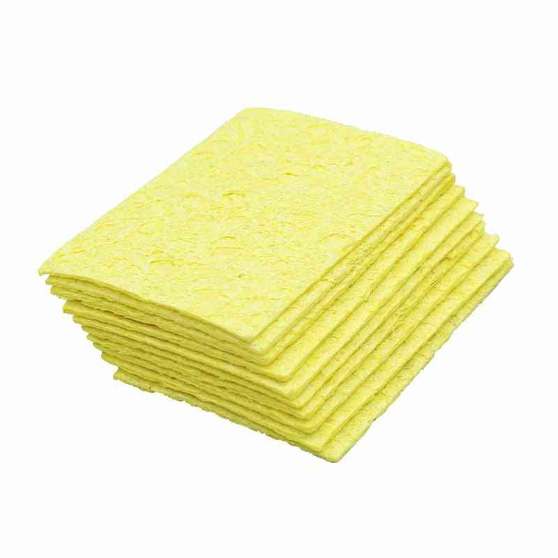 5/10pcs Yellow Cleaning Sponge Cleaner