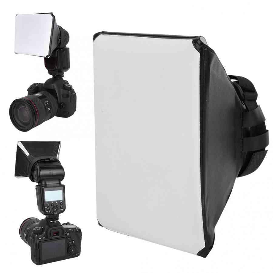 Photography Flash Diffuser Mini Kit Camera Photo Foldable Soft Box Flash For Canon Eos Dslr Speed Light