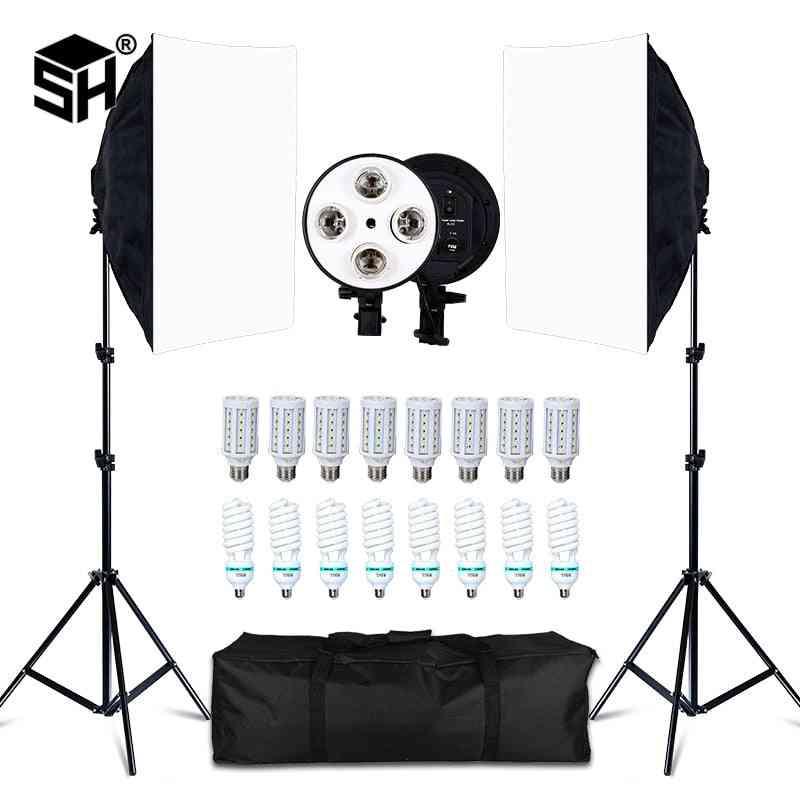 Photo Studio 8 Led 20w Kit Photographic Lighting Kit Camera & Photo Accessories 2 Light Stand 2 For Camera Photo