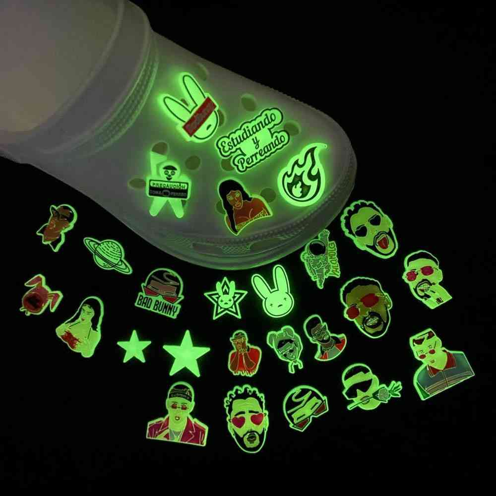 Glow In The Dark Charms Pvc Decoration