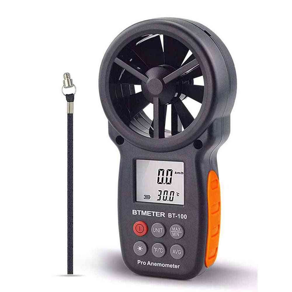 Handheld Wind Speed Meter For Measuring Temperature And Wind