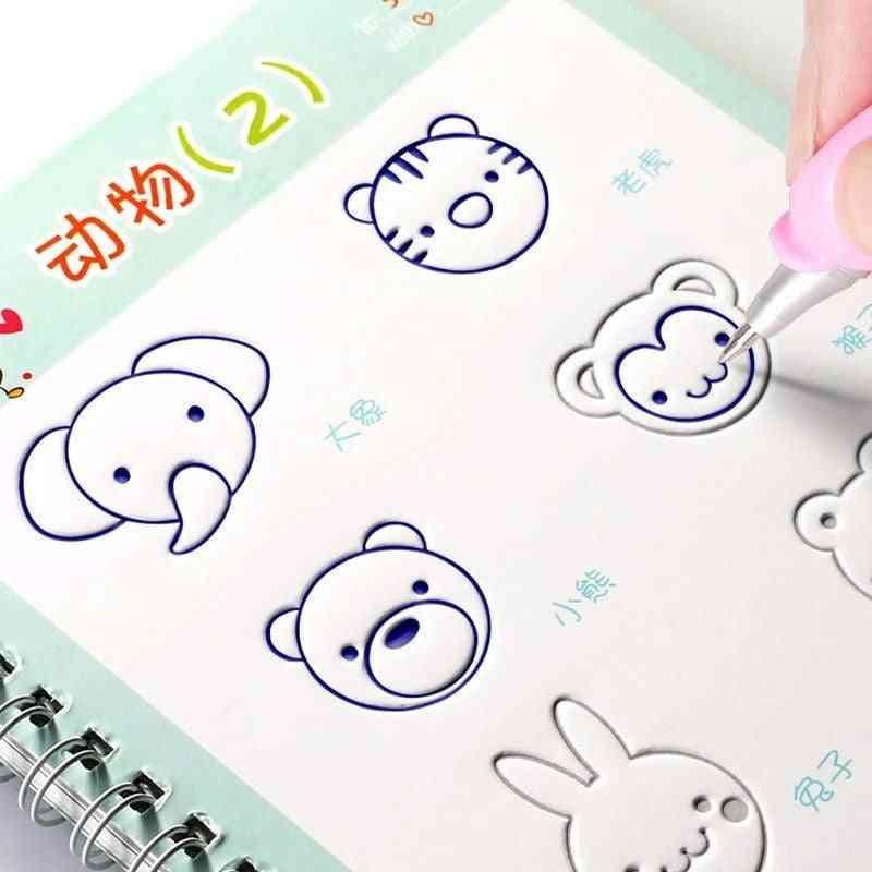 Children Drawing Coloring Books For Calligraphy, Art Painting, Learning, Practice For Kids