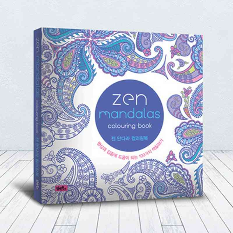 Mandalas Flower Coloring Book For, Adult, Relieve Stress, Graffiti Painting, Drawing Art Stationery