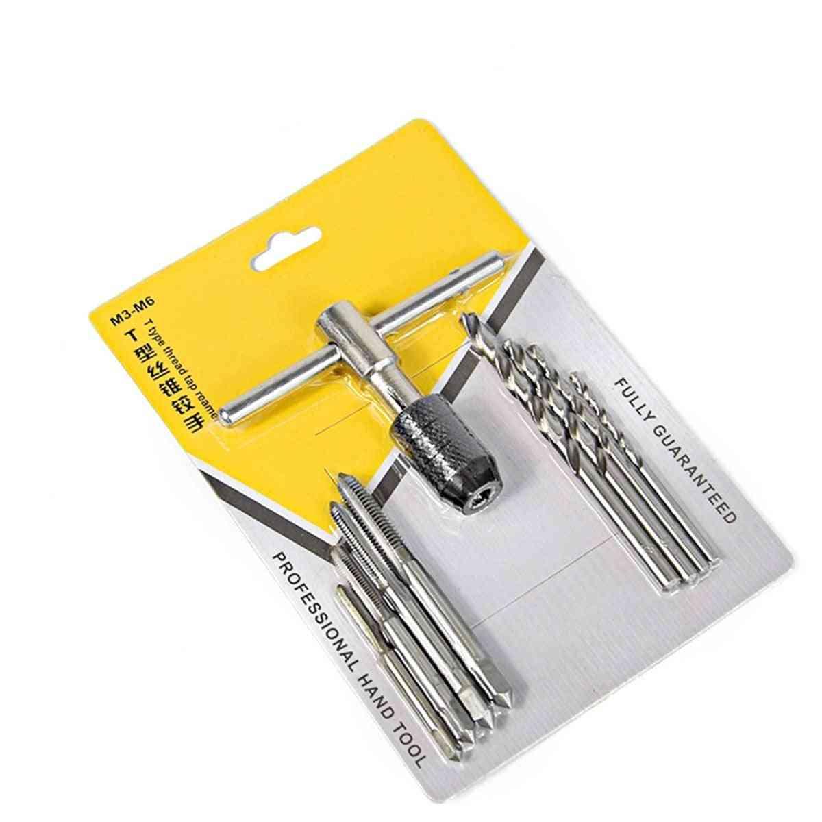 Screw Hole Drill Bit Machine & Thread Tap Hand Tool