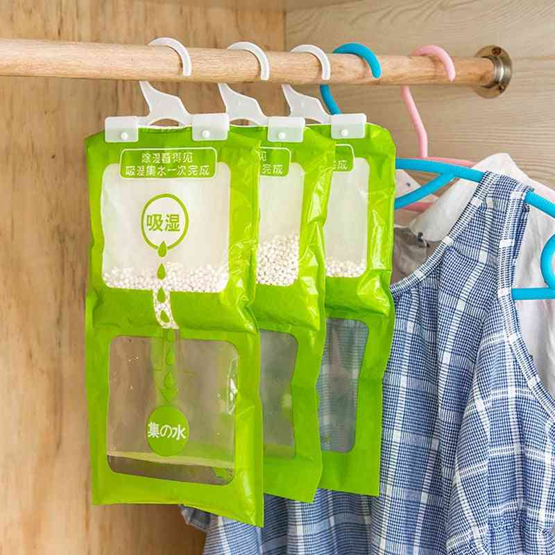 Hanging Wardrobe Moisture Bag, Moth Proof Closet, Cabinet, Dehumidifier, Drying Agent, Hygroscopic, Anti-mold, Desiccant Bags