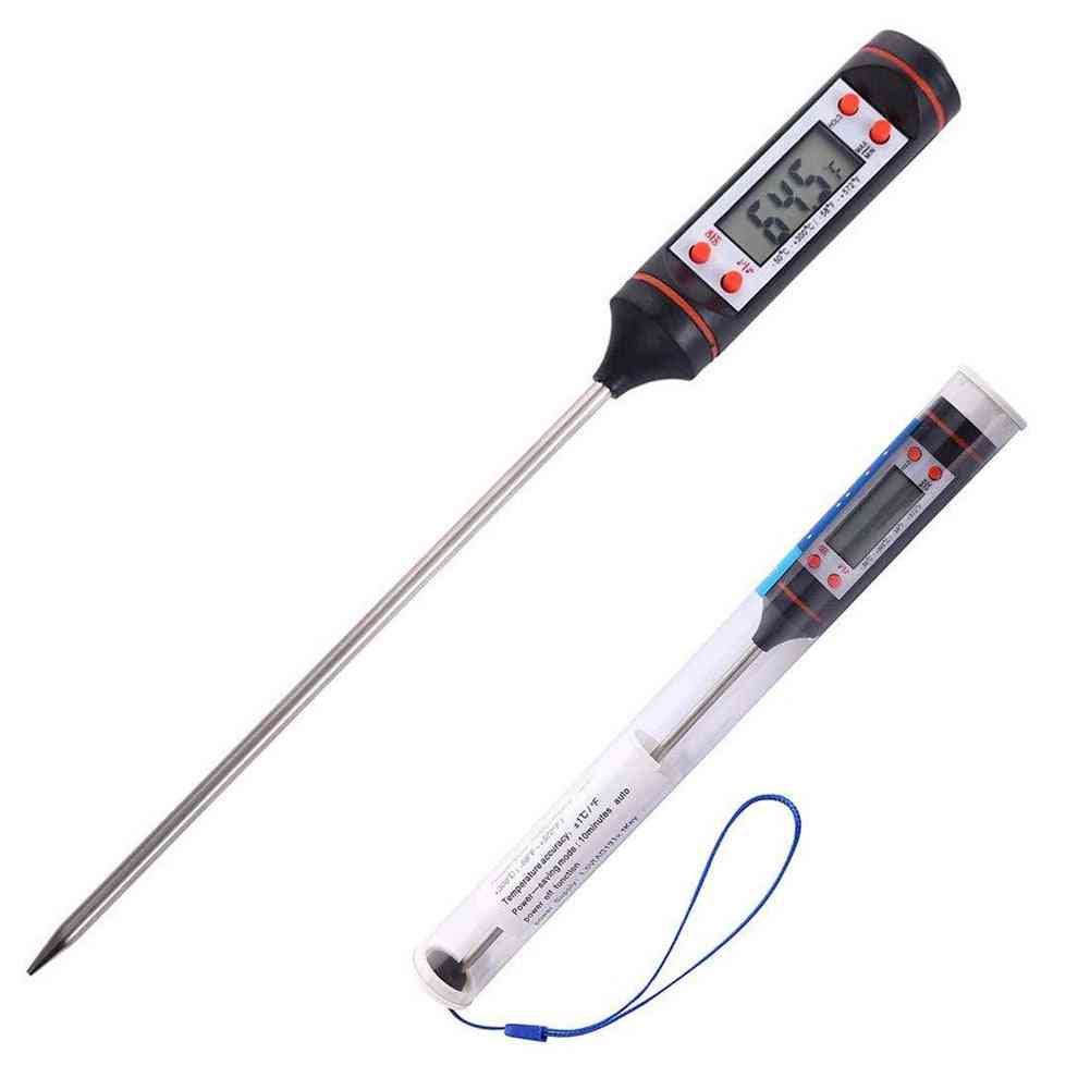 Kitchen Digital Bbq Food Thermometer, Meat Cake, Candy Fry, Grill Dinning Household Cooking Gauge, Oven Tool