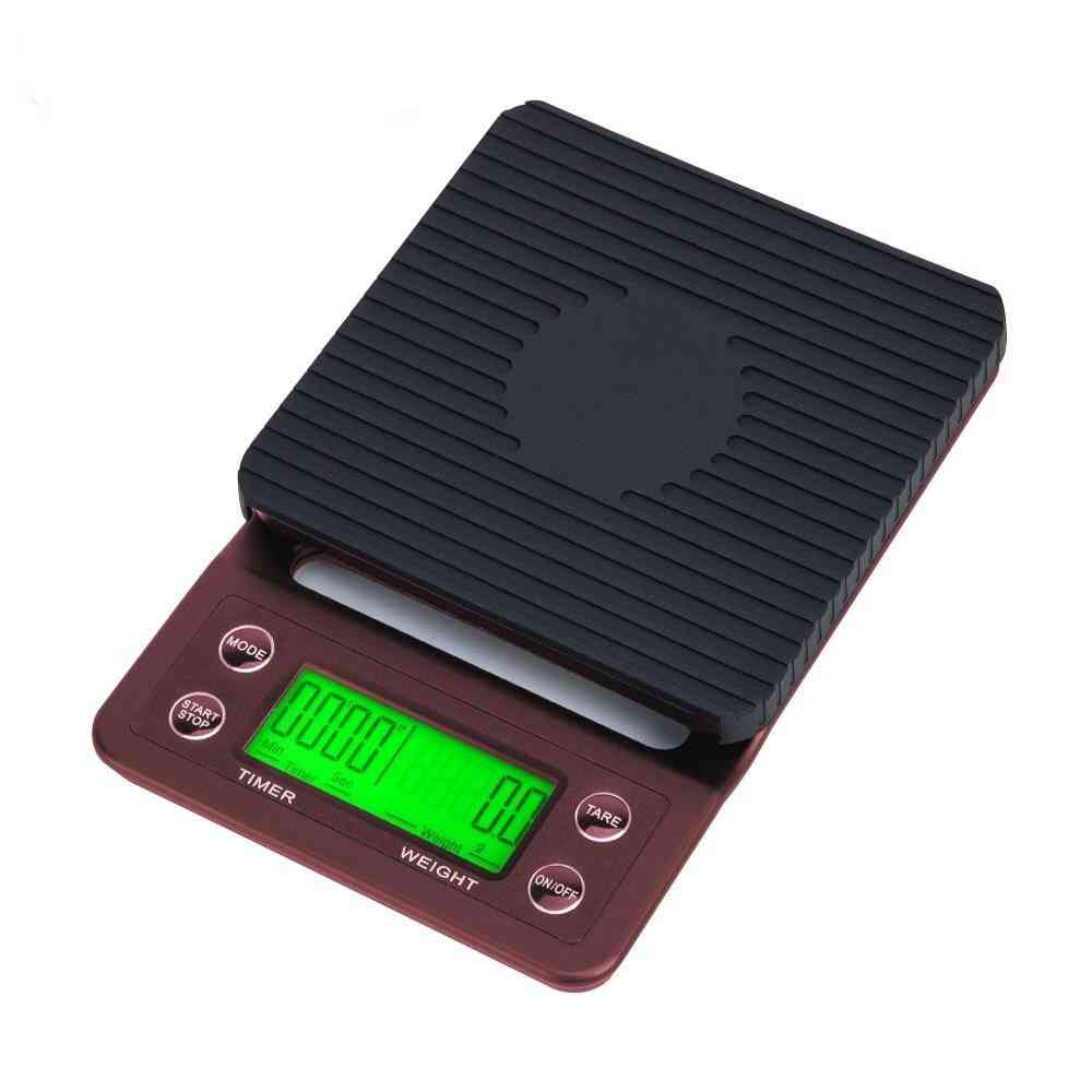 Scales 3kg/5kg X 0.1g With Timer Drip Electronic Digital Lcd For Kitchen