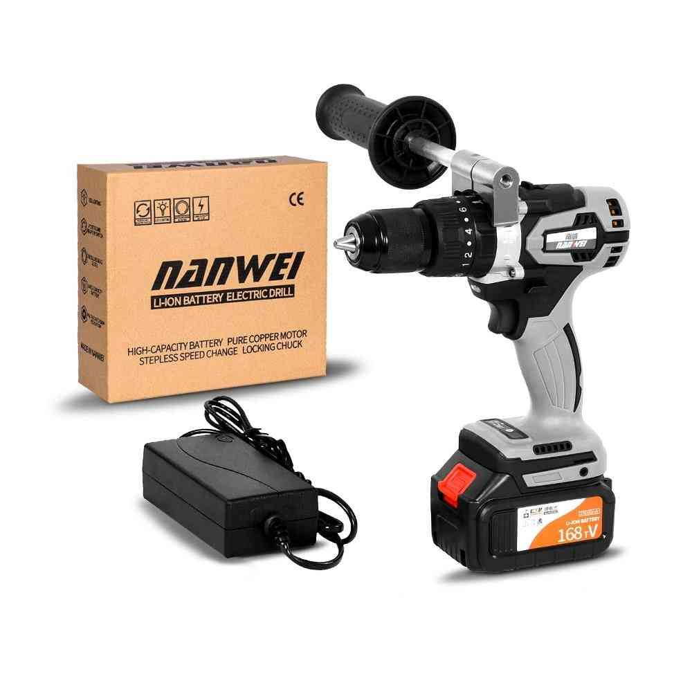 Cordless Drill Industrial Grade Brushless Impact Drill 1/2