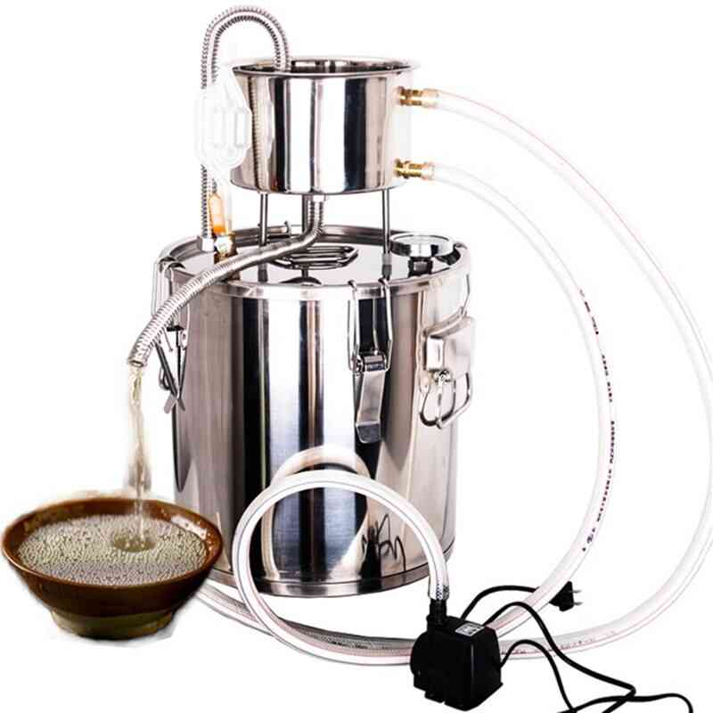 Stainless Steel Household Wine Brewing Machine, Fermentation Steamed Hydrosol, Pure Brew Pot