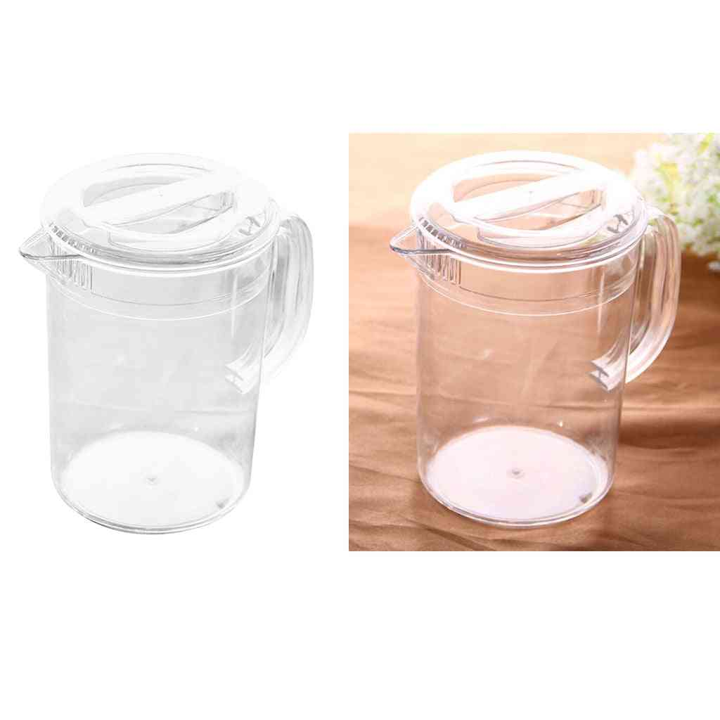Plastic Water Pitcher With Lid, Hot And Cold Water Jar, Ice Tea Juice Container