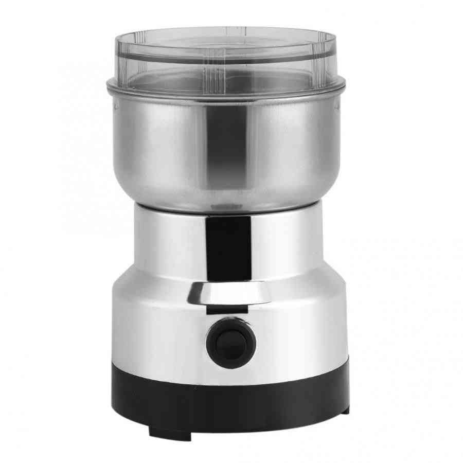 Powerful Electric Coffee Grinder, Stainless Steel, Bean Grinding Machine, Home Kitchen Spice, Nuts, Seeds Salt Pepper