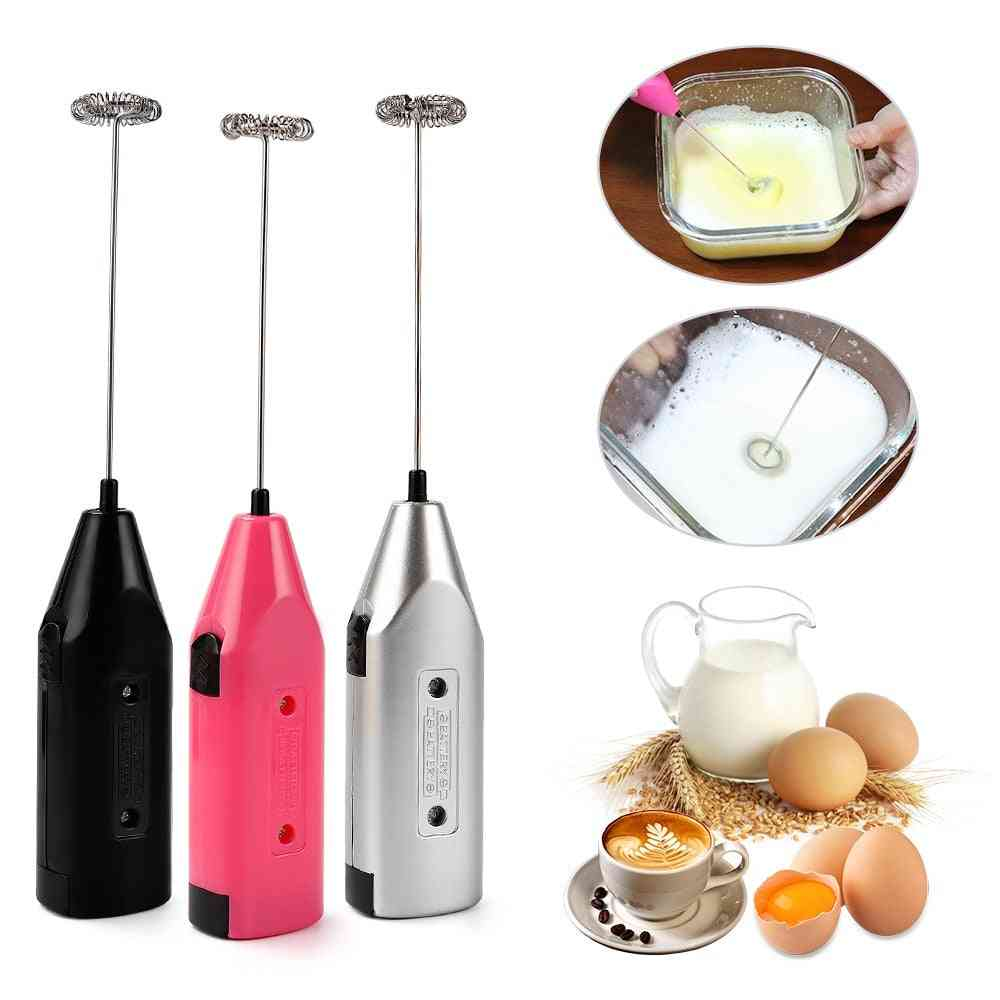 Mini Handle Stirrer Battery Operated Handheld Electric Mixer, Drink Coffee Whisk Milk, Frother, Practical Kitchen Cooking Tool