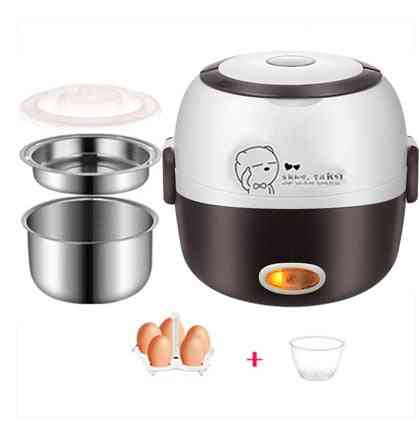 Mini Rice Cooker, Thermal Heating Electric Lunch Box, Portable Food Steamer, Cooking Container, Meal Lunchbox Warmer