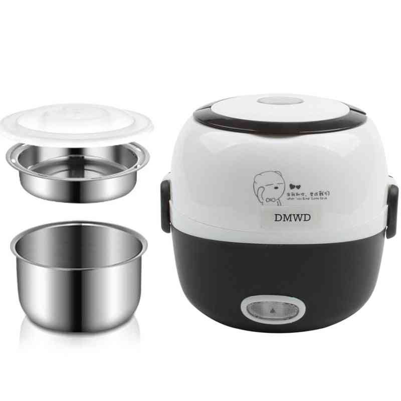 Rice Cooker, Thermal Heating Electric Lunch Box, Food Steamer, Cooking Container, Meal Lunchbox Warmer