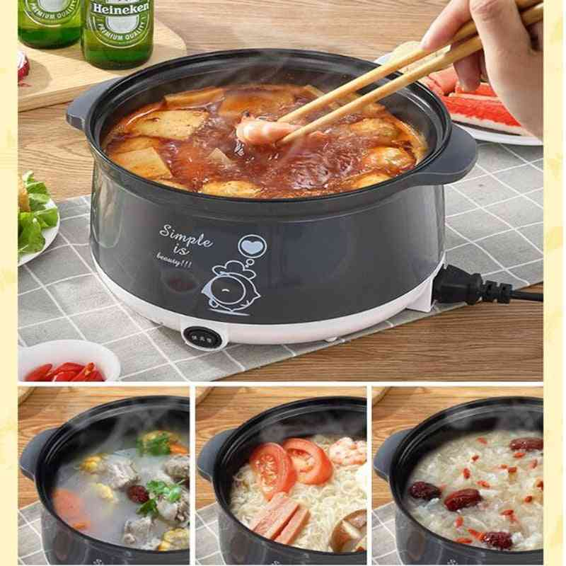 Household Electric Mini Multi Cooker, Non-stick Hot Pot, Cooking Pot For Cooking, Frying, Steaming