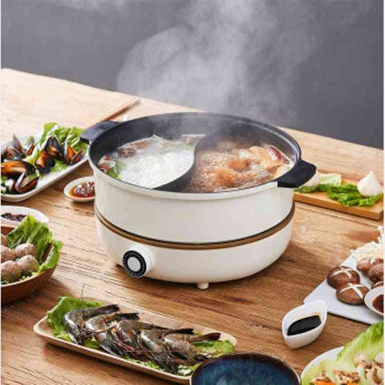 Household Electric Heating Pot, Induction Cooker, Separate Plate, Detachable Hot Pot