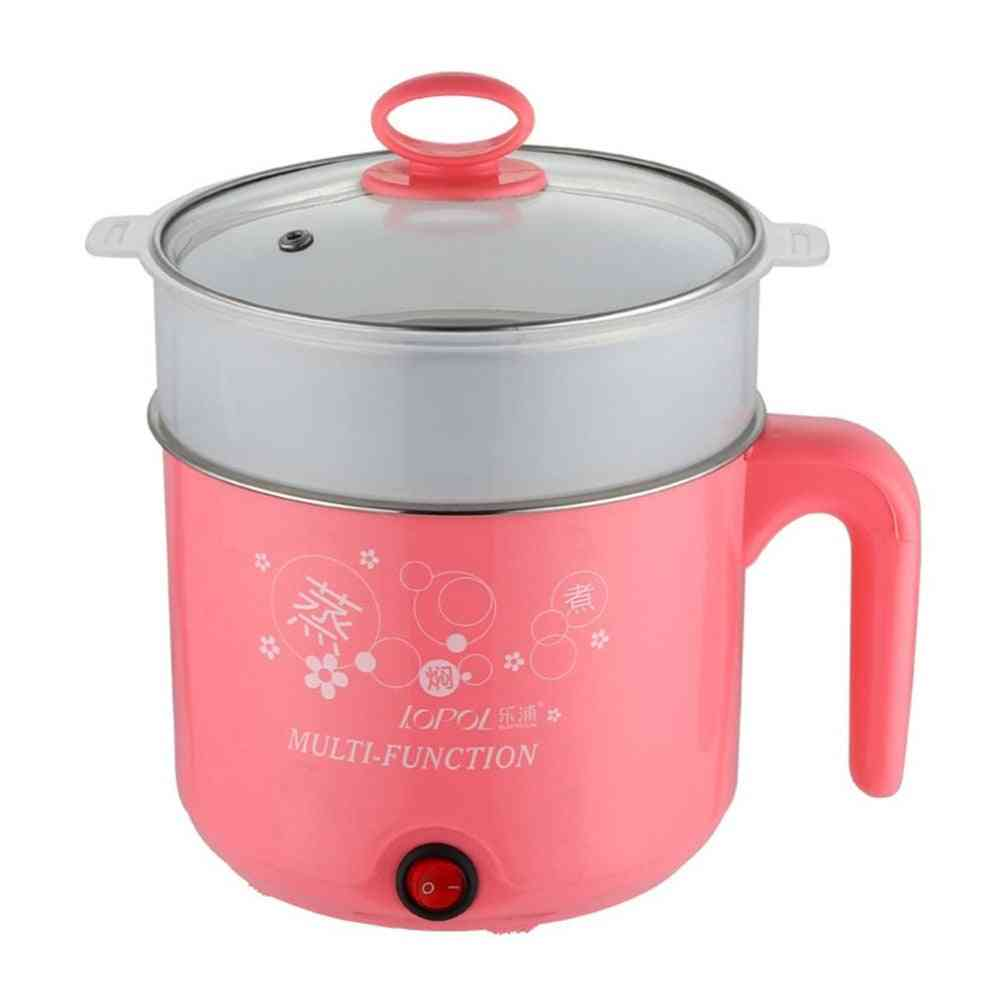 Stainless Steel Electric Cooker With Steamer, Hot Pot Noodles Pot, Rice Cooker, Steamed Egg Pan, Multicooker