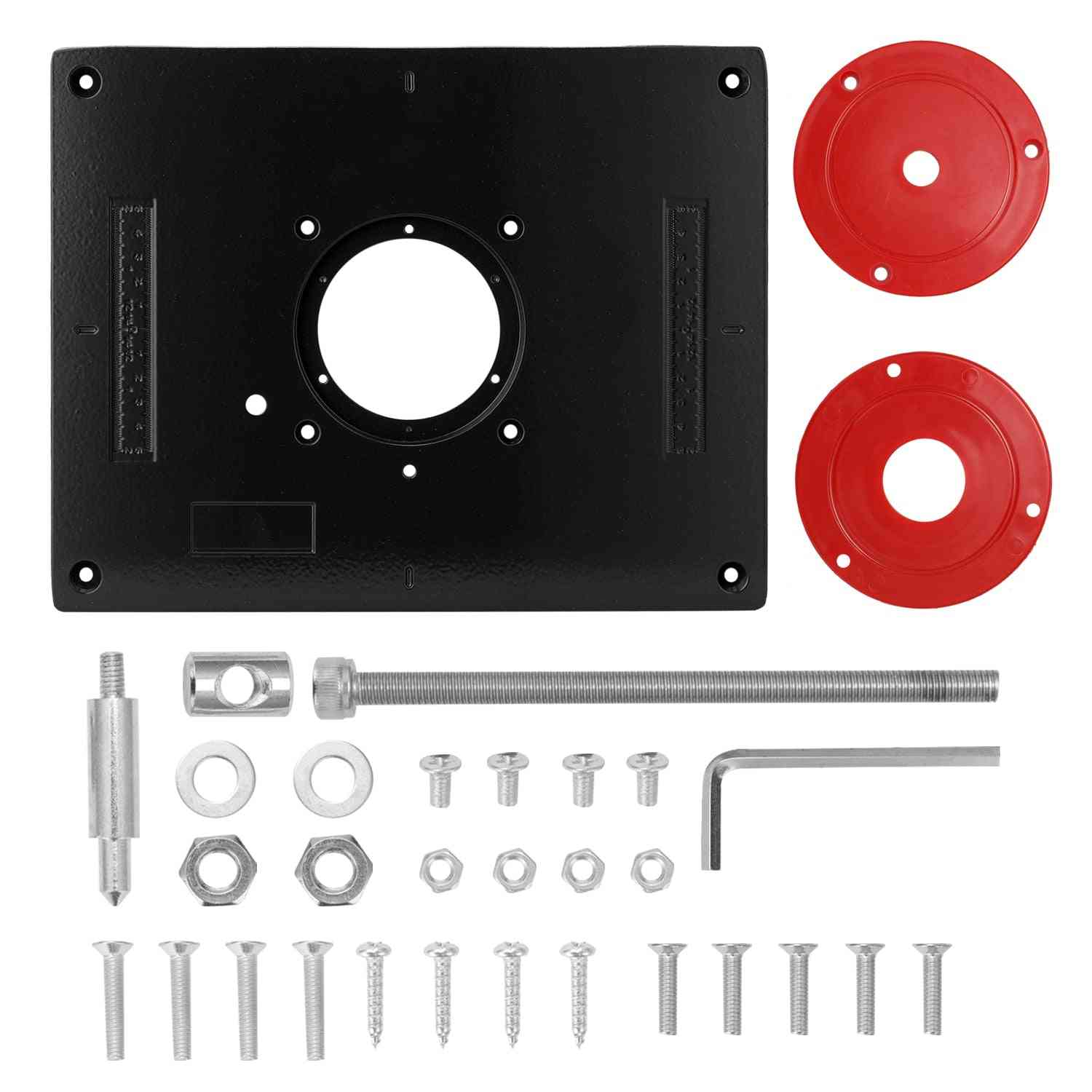 Router Table Insert Plate For Wood Milling Trimmer Engraving Machine Tool