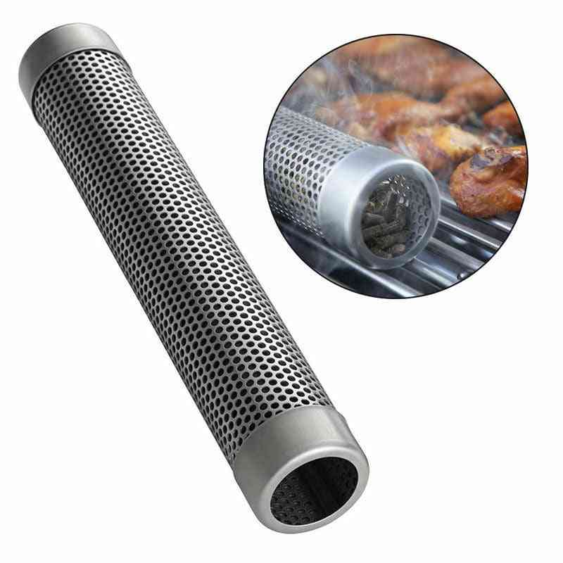 Stainless Steel Perforated Mesh Smoker, Tube Filter Gadget, Hot Cold Smoking Round Sqaure Bbq Tube